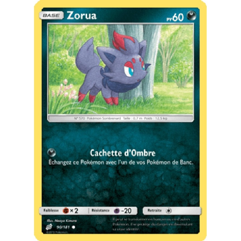 90//181 Carte Pokemon Neuve Française Zorua Reverse SL09:Duo De Choc