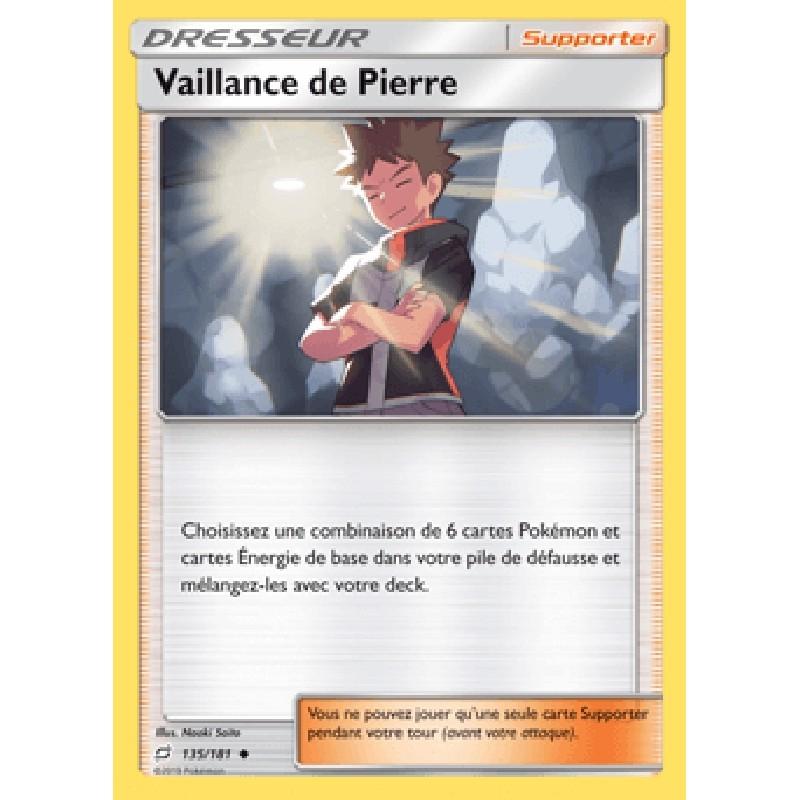 Vaillance de Pierre 135/181 CartePokémon™ Dresseur Neuve VF