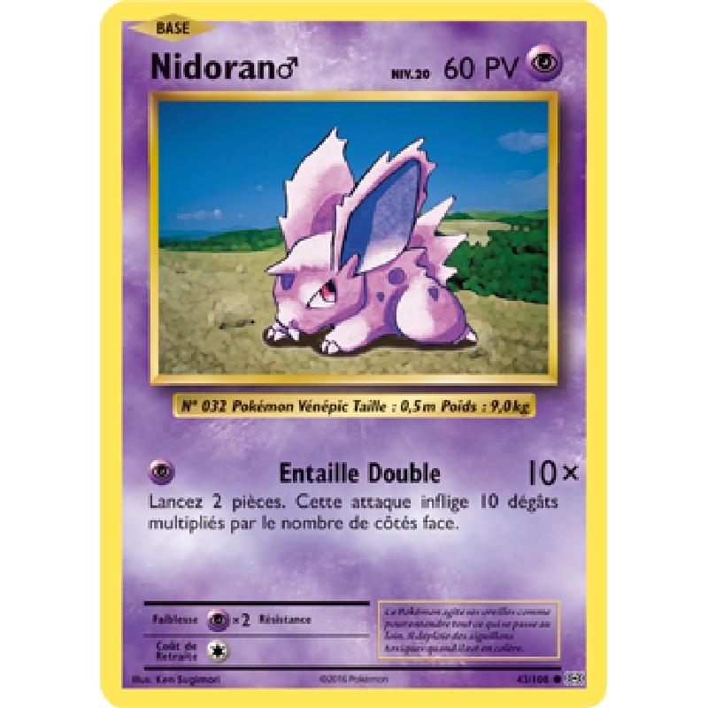 Nidoran♂ 43/108 PV60 Carte Pokémon™ commune Neuve VF