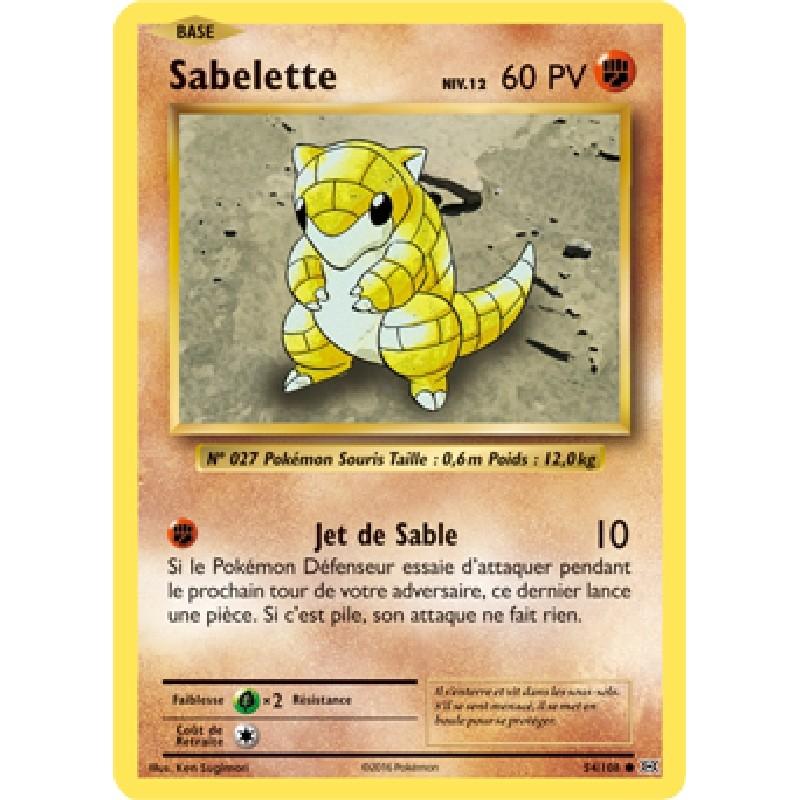Sabelette 54/108 PV60 Carte Pokémon™ commune Neuve VF