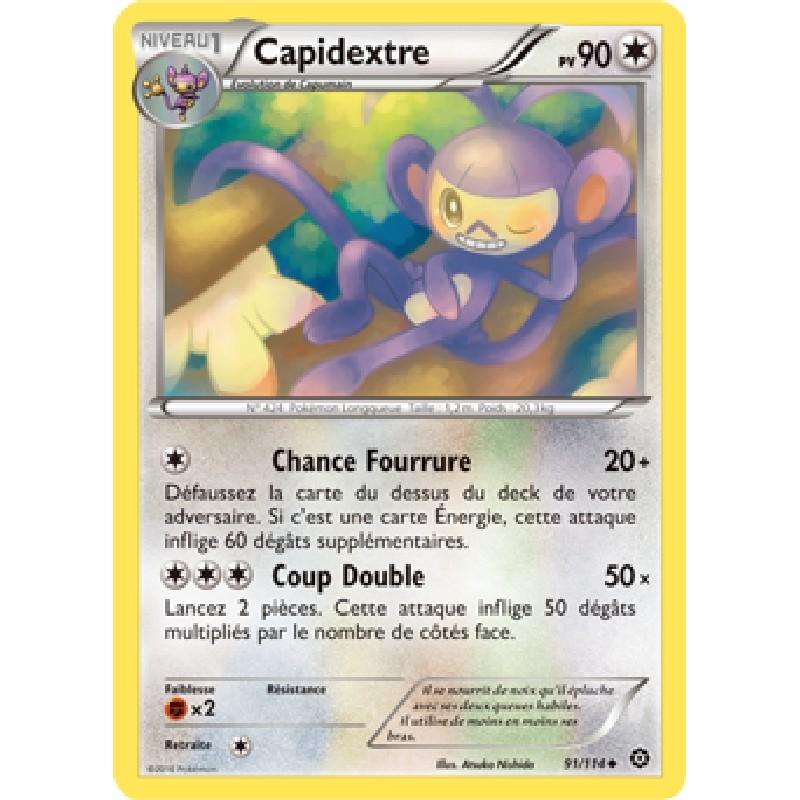 Capidextre 91/114 PV90 Carte Pokémon™ peu commune VF