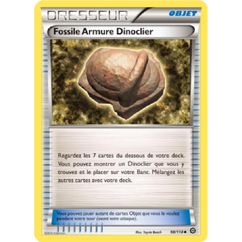 Fossile Armure Dinoclier 98/114 Carte Pokémon™ dresseur VF