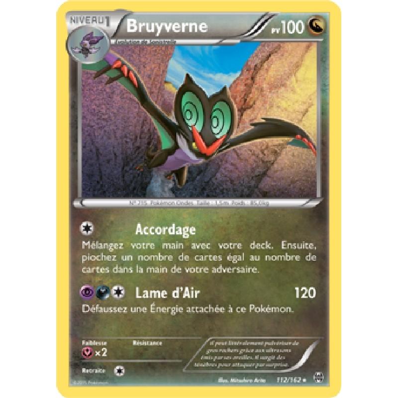Bruyverne 112/162 PV100 Carte Pokémon™ rare neuve VF
