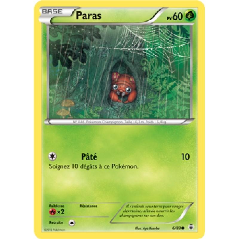 Paras 6/83 PV60 Carte Pokémon™ commune neuve VF