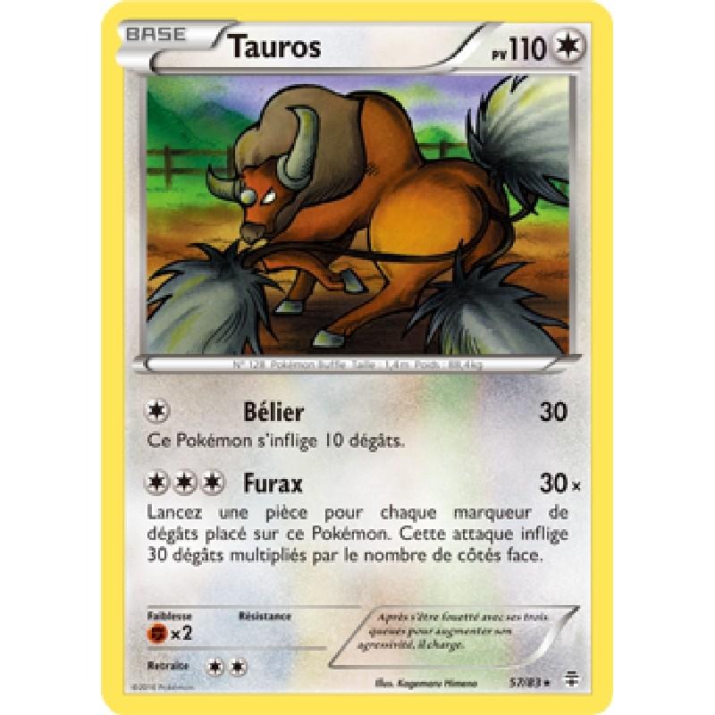 Tauros 57/83 PV110 Carte Pokémon™ rare neuve VF