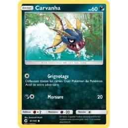 Carvanha 81/149 PV60 Carte Pokémon™ commune neuve VF
