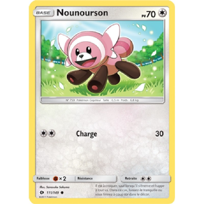 Nounourson 111/149 PV70 Carte Pokémon™ commune neuve VF