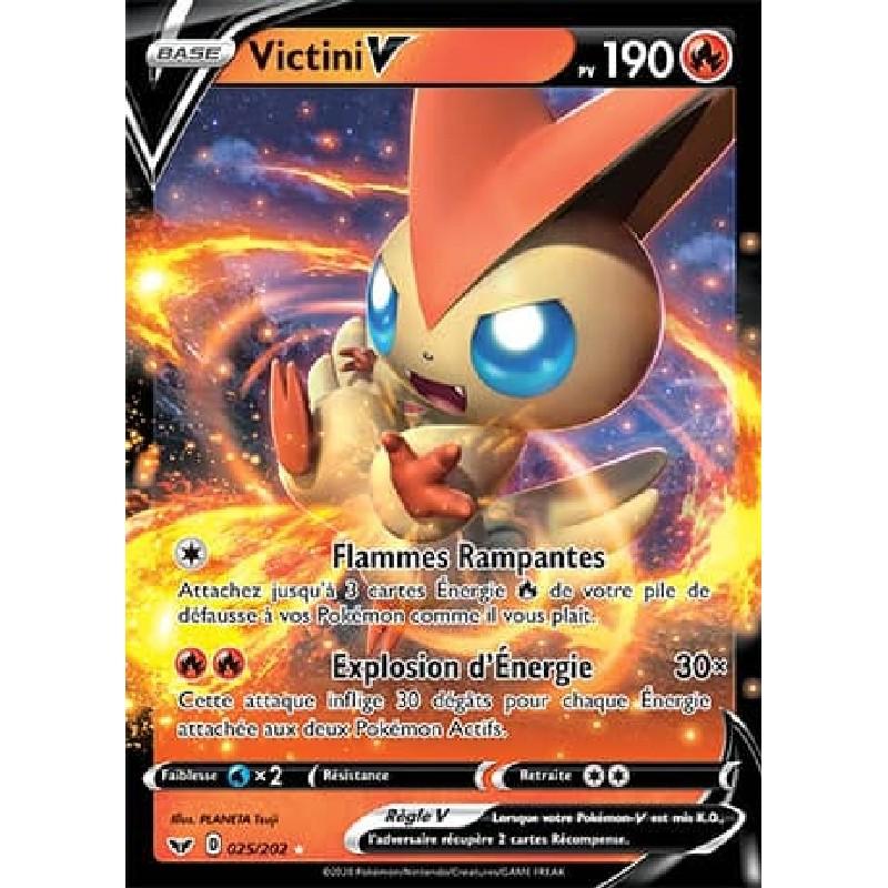Victini V 25/202 PV190 Carte Pokémon™ Ultra Rare Neuve VF