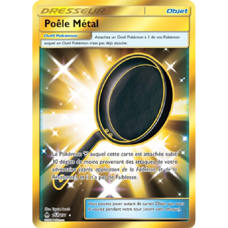 Poêle Métal 144/131 PV180 Carte Pokémon™ Dresseur Secrète Gold Neuve VF