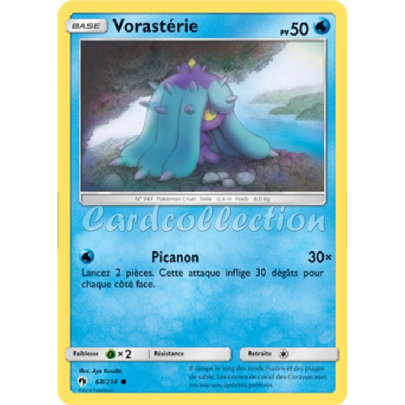 Vorastérie 68/214 PV50 Carte Pokémon™ commune neuve VF
