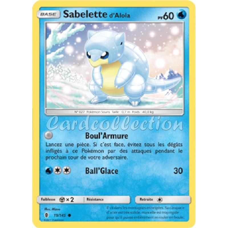 Sabelette d'Alola 19/145 PV60 Carte Pokémon™ commune Neuve VF