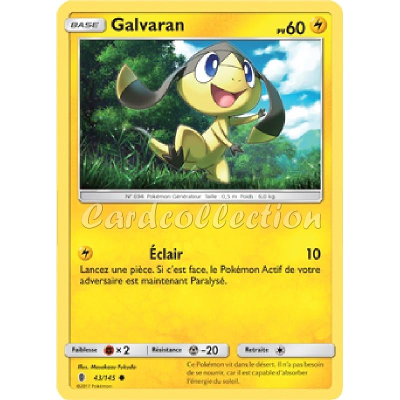 Galvaran 43/145 PV60 Carte Pokémon™ commune Neuve VF