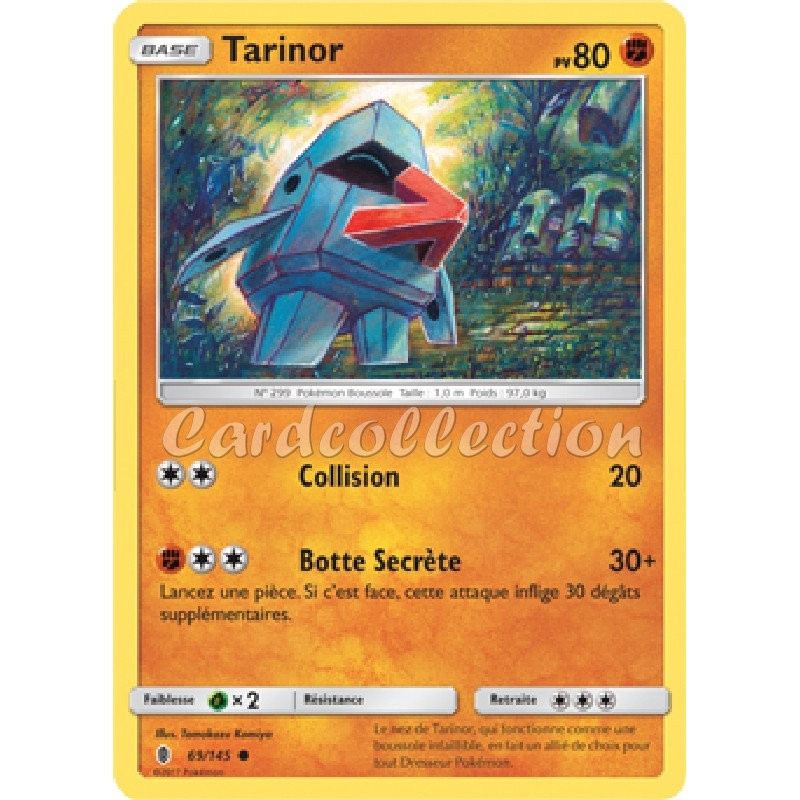 Tarinor 69/145 PV80 Carte Pokémon™ commune Neuve VF