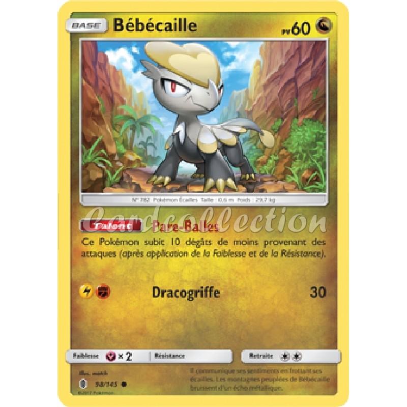 Bébécaille 98/145 PV60 Carte Pokémon™ commune Neuve VF