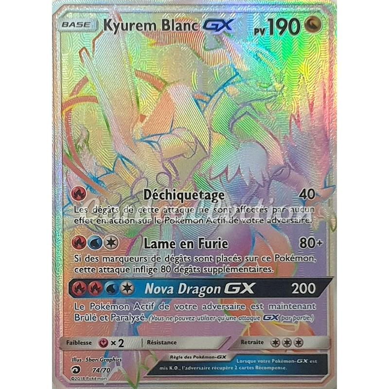 Kyurem Blanc-GX 74/70 PV190 Carte Pokémon™ Ultra rare SECRETE Neuve VF