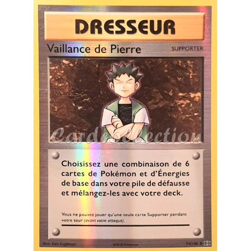 Vaillance de Pierre 74/108 Carte Pokémon™ Dresseur reverse Neuve VF